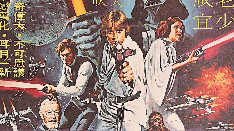 This rare Hong Kong <i>Star Wars</i> poster was sold by Prop Store in London.