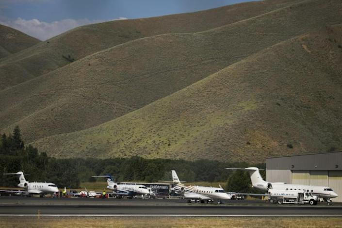 Many of those booking private jets are first-time clients (AFP Photo/Drew Angerer)