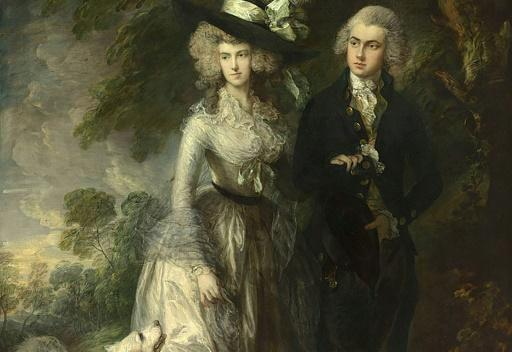 "El cuadro del pintor británico Thomas Gainsborough, ""El paseo matinal"" (""The Morning Walk""), exhibido en la National Gallery de Londres, el 20 de marzo de 2017"