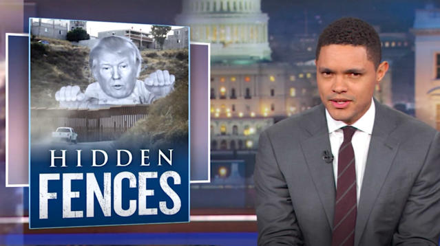"""The Daily Show (@TheDailyShow) September 15, 2017 Trevor Noah poked fun at the confusion surrounding the future of President Donald Trump's proposed U.S.-Mexico border wall on Thursday's broadcast of """"The Daily Show."""""""