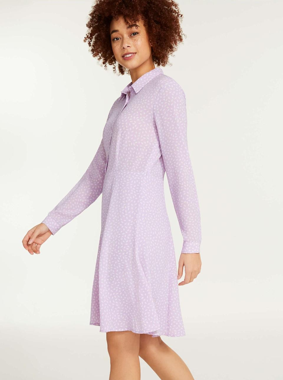 Joe Fresh Crepe Shirtdress. Image via Joe Fresh.