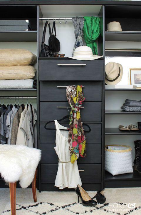 """<p>Prepare to be amazed by this blogger's DIY: She used <a href=""""https://www.housebeautiful.com/home-remodeling/diy-projects/g3911/fancy-ikea-hacks/?slide=15"""" target=""""_blank"""">IKEA's Rast dresser</a><span class=""""redactor-invisible-space"""" style=""""background-color:initial;""""> and two bookshelves to turn a blank wall into the ultimate clothing organizer.</span></p><p>See more at <a href=""""http://www.homemadebycarmona.com/how-to-wardrobe-hack/"""" target=""""_blank"""">Homemade by Carmona</a>.</p>"""