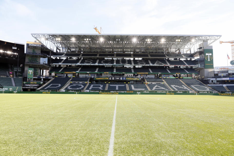 PORTLAND, OREGON - FEBRUARY 22: A general view inside the stadium before the Major League Soccer preseason match between Minnesota United FC and Vancouver Whitecaps at Providence Park on February 22, 2020 in Portland, Oregon. (Photo by Soobum Im/Getty Images)