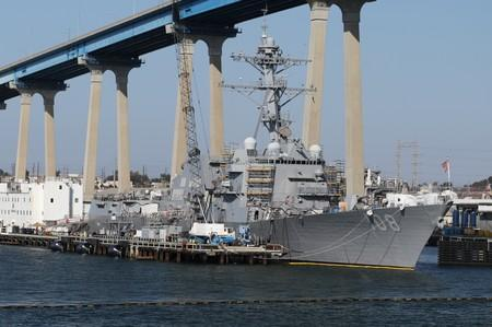 FILE PHOTO: The USS Wayne E. Meyer (DDG-108) Arleigh Burke-class Destroyer sits docked in San Diego