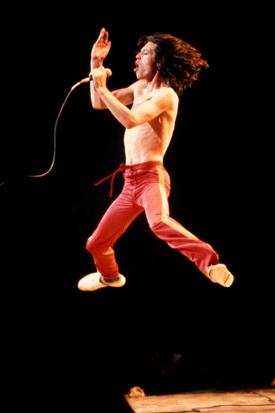 <p>Mick Jagger performing live onstage in New York in 1975.</p>