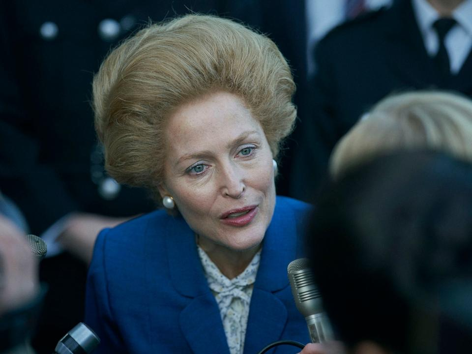 <p>Gillian Anderson's portrayal has been commended in early reviews of the season</p>Des Willie/Netflix
