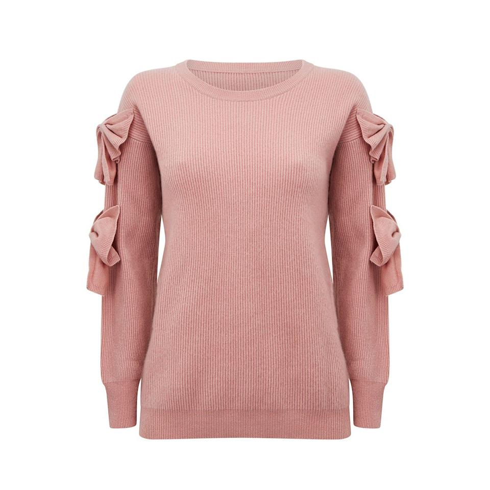 "<p>Madeleine Thompson's bow-embellished Pretty Woman cashmere jumper is the perfect present for a locked-down Valentine's Day.</p><p>£355, Madeleine Thompson</p><p><a class=""link rapid-noclick-resp"" href=""https://go.redirectingat.com?id=127X1599956&url=https%3A%2F%2Fwww.net-a-porter.com%2Fen-gb%2Fshop%2Fproduct%2Fmadeleine-thompson%2Fpretty-woman-bow-detailed-ribbed-cashmere-sweater%2F1300709&sref=https%3A%2F%2Fwww.townandcountrymag.com%2Fuk%2Flifestyle%2Fg35147769%2F14-gift-ideas-for-valentines-day%2F"" rel=""nofollow noopener"" target=""_blank"" data-ylk=""slk:SHOP NOW"">SHOP NOW</a></p>"