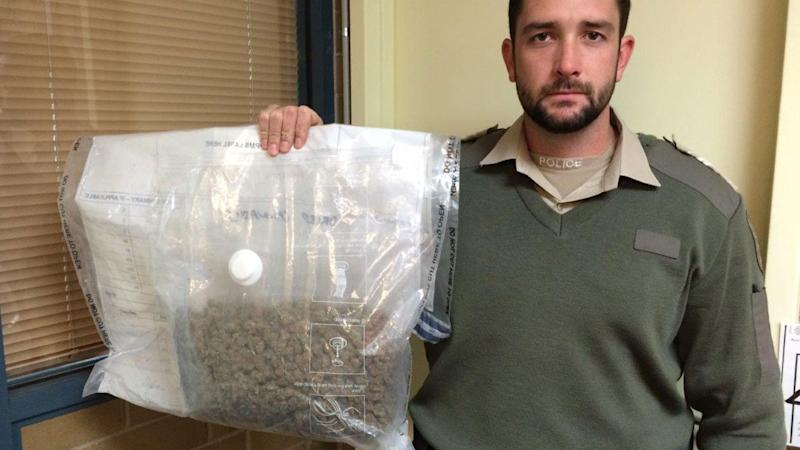 Driver finds massive bag of cannabis on outback highway