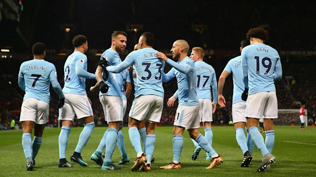 Pep Guardiola's Premier League leaders set a new record for the competition on Wednesday, with victory at Swansea City their 15th in a row.