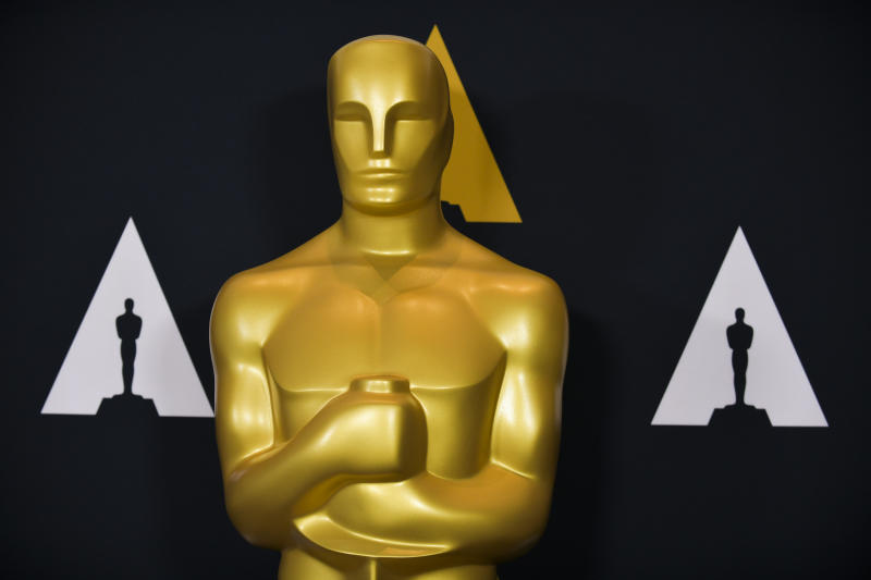 LOS ANGELES, CALIFORNIA - FEBRUARY 05: Oscar statue at the Samuel Goldwyn Theater on February 05, 2020 in Beverly Hills, California. (Photo by Rodin Eckenroth/Getty Images)