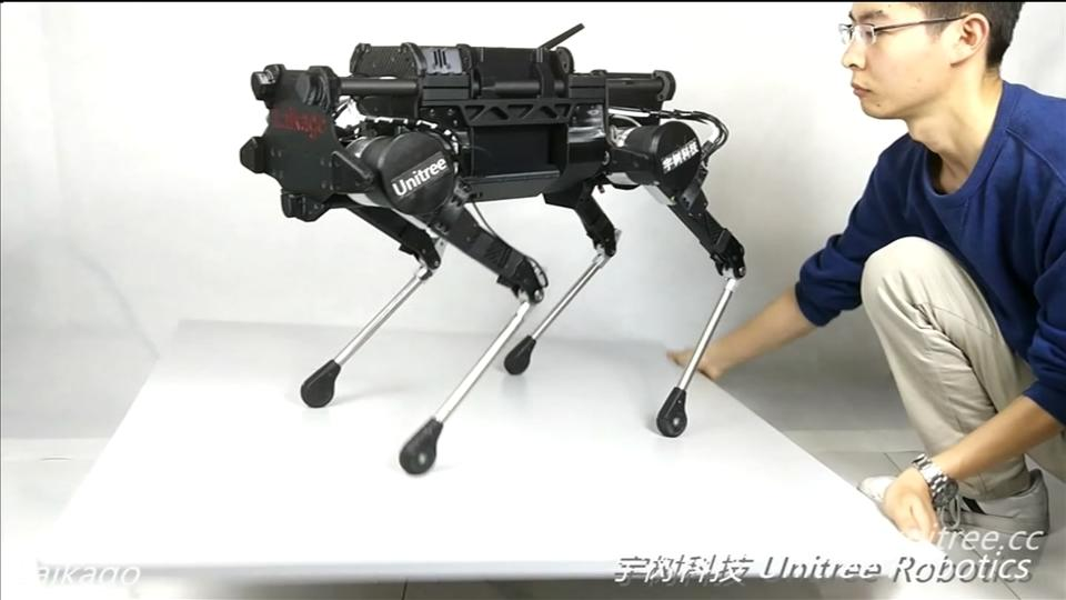 A Chinese start-up is hoping its four legged 'robodog' can make quadruped robots as popular and affordable as smartphones and drones. Stuart McDill reports.