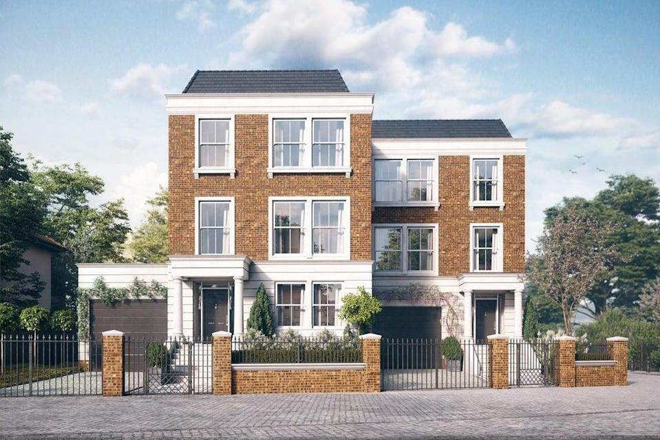 'Exclusive' is the right word for Richmond Riverside as the development includes only two 4000sq ft homes backing directly onto the Thames (Handout)