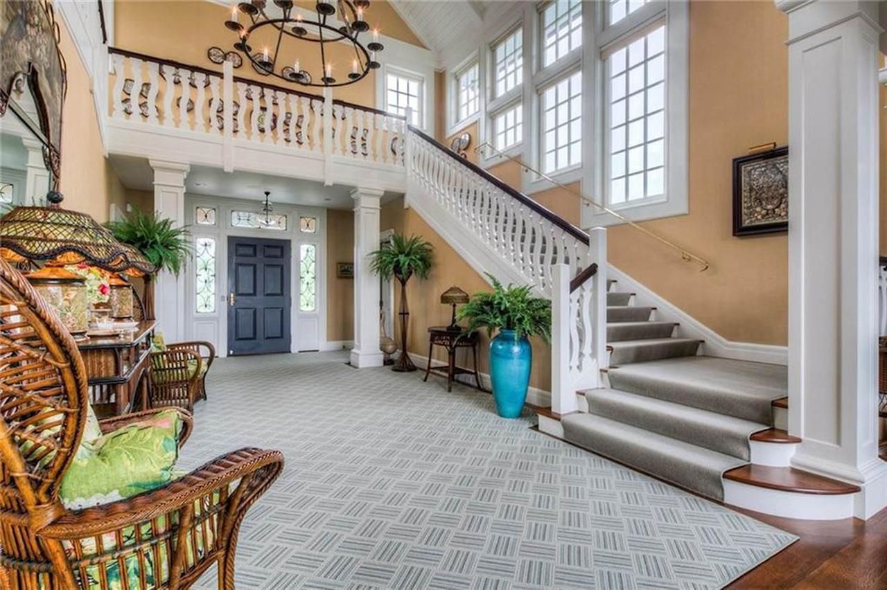 <p>The palatial mansion has a two-story entrance hall. Photo: Australscope </p>