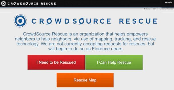 PHOTO: If you are stranded in the midst of Hurricane Florence and can't reach rescuers, this app might be able to get you help. (Crowd Source Rescue)