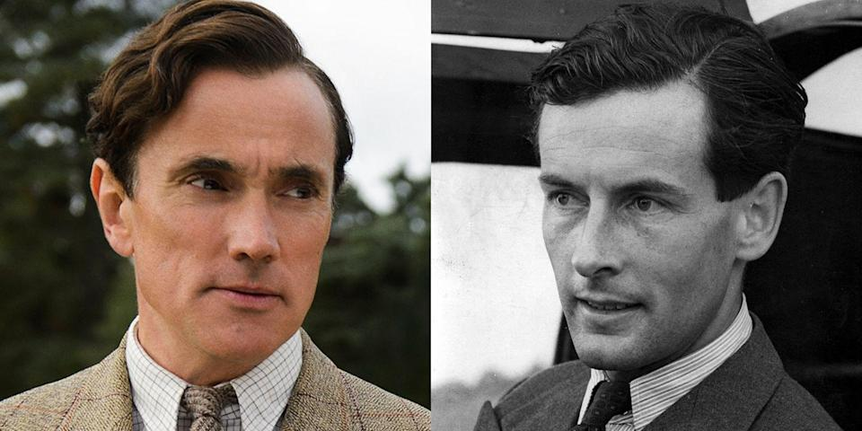"""<p>Played by English actor Ben Miles, Peter Townsend led a rather impressive professional life as an officer with the Royal Air Force. For nearly 10 years, he was also an equerry (which is pretty much a fancy way of saying """"personal attendant"""") for the British royal family, serving under both King George VI and the Queen Mother. His personal life was rather dramatic. As shown on season 1, Townsend divorced his first wife, proposed to Princess Margaret, and shortly thereafter, he was sent to serve as an air attaché in Brussels. (BTW, an air attaché just means an Air Force officer who is part of a diplomatic mission.) On season 2, Townsend was shown writing a letter to Margaret to announce his engagement to a young Belgian woman. That woman would be Marie-Luce Jamagne, with whom Townsend would have one daughter.</p>"""