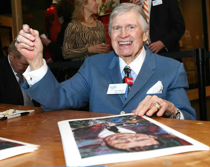 Titans owner Bud Adams has died at age 90