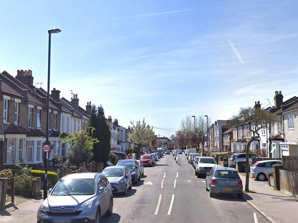 Moffat Road in Croydon, south London, where a schoolgirl was stabbed in the leg by a 15-year-old boy (Google street view)
