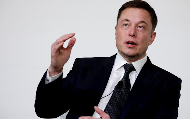 Elon Musk, the South African tech entrepreneur, has admitted to sleeping in the Tesla factory amid a crisis in production - REUTERS