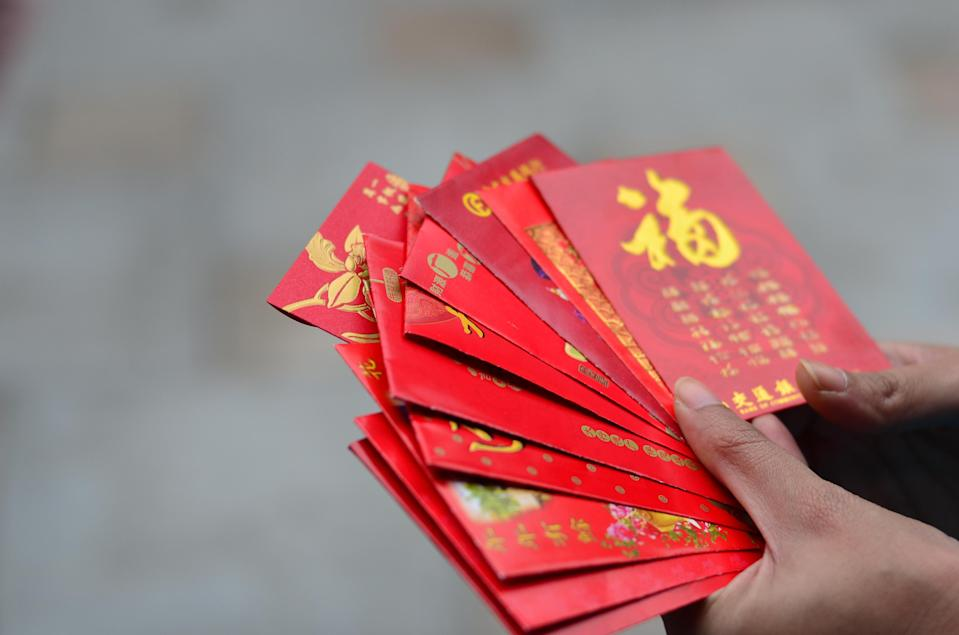 Red packets for Chinese New Year. Photo: Getty Images.