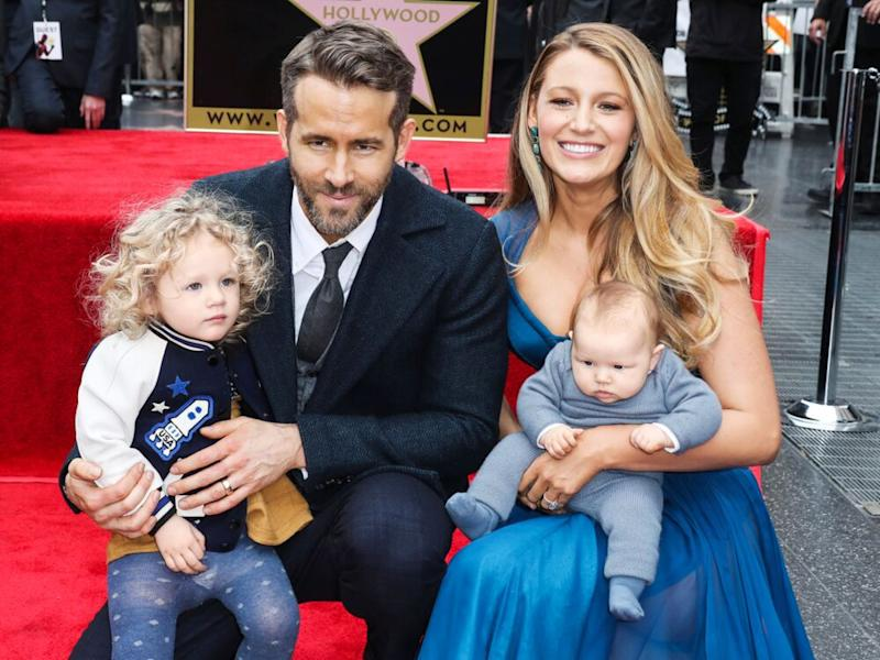 Blake Lively and Ryan Reynolds with daughters James (L) and Inez in 2016 | Xavier Collin/Image Press/Splash