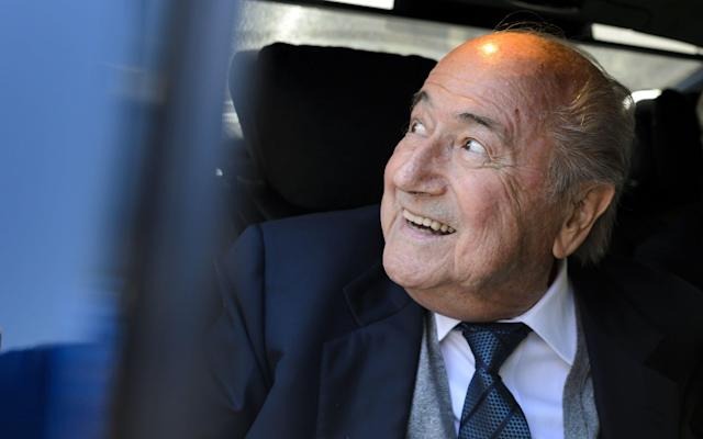 <span>The French financial prosecutors' office has revealed it has interviewed Sepp Blatter over the award of hosting rights for the next two World Cups</span> <span>Credit: FABRICE COFFRINI/AFP/Getty Images </span>
