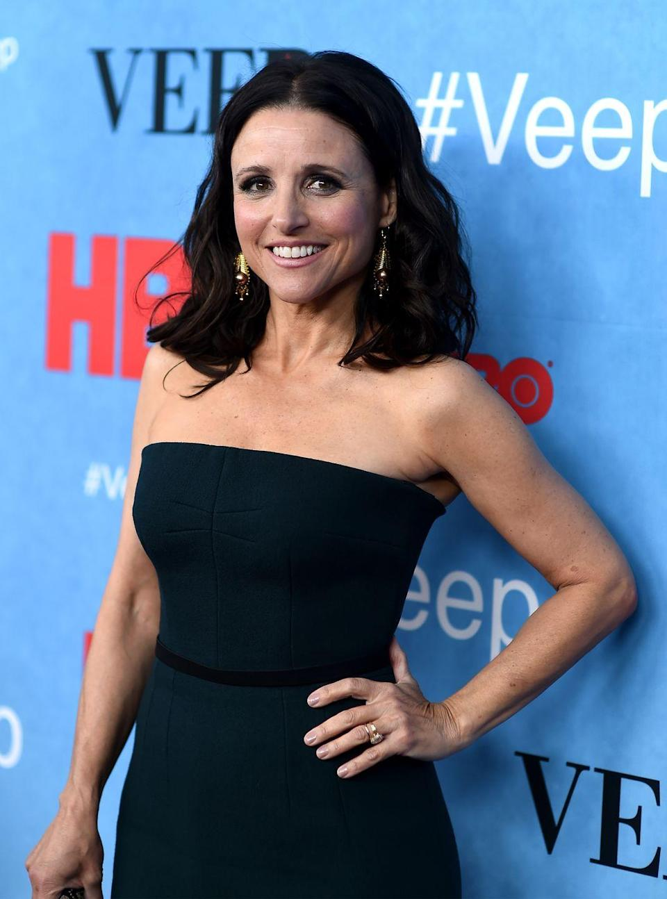 <p>Louis-Dreyfus's last year on <em>SNL</em> coincided with writer Larry David's first and only year writing for the show. The two became friends, and five years later David convinced her to join the cast of the new sitcom he was working on with Jerry Seinfeld. Her roles on <em>Seinfeld</em>, <em>The New Adventur</em><em>es of Old Christine</em>, and <em>Veep</em> have resulted in 11 Emmy wins. In 2018, Louis-Dreyfus received the Mark Twain Prize for American Humor.</p>