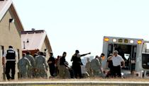 In this image released by the US Army, first responders prepare the wounded for transport near Fort Hood's Soldier Readiness Processing Center on November 5, 2009 in Fort Hood, Texas (AFP Photo/)