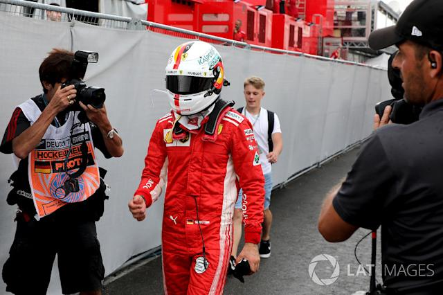 "Sebastian Vettel, Ferrari tras su accidente <span class=""copyright"">Jerry Andre / Sutton Images</span>"