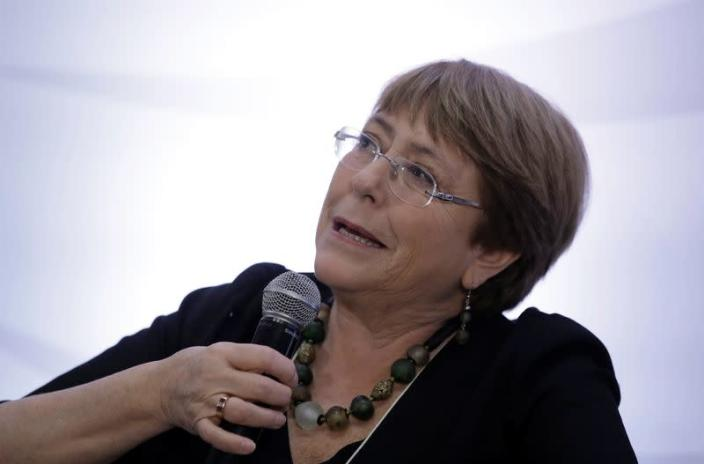 FILE PHOTO: U.N. High Commissioner for Human Rights Michelle Bachelet speaks during a conversation with African descent women in San Jose
