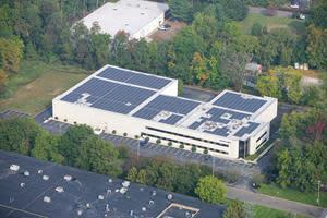 Konica Minolta Healthcare has installed a solar system that will generate an estimated 541,645 kilowatt-hours of clean energy annually, equivalent to matching nearly 90% of the facility's onsite electricity usage.