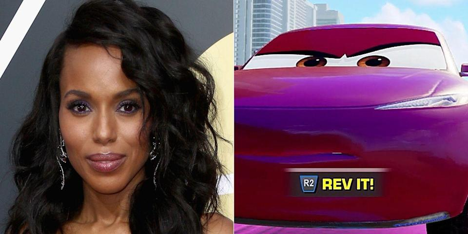 <p>Owen Wilson leads the<em> Cars</em> franchise as Lightning McQueen, but for the third film (released in 2017), Pixar added <em>Scandal</em>'s Kerry Washington in the small role of a statistical analyst.</p>