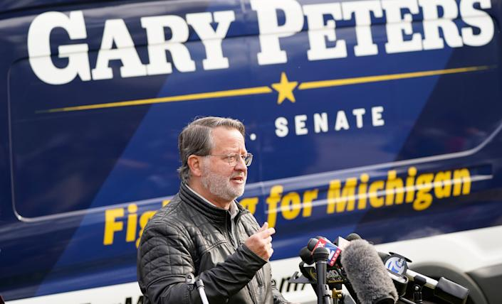 Sen. Gary Peters (D-Mich.) is widely being discussed as the next potential chair of the Democratic Senatorial Campaign Committee. (Photo: Carlos Osorio/Associated Press)