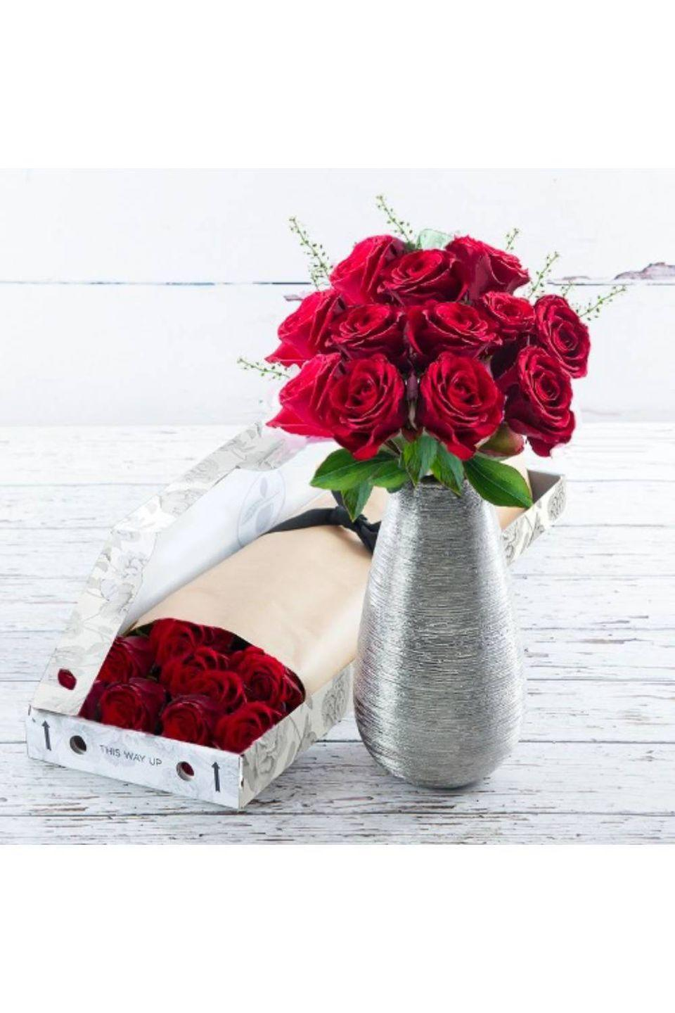 """<p><strong><a class=""""link rapid-noclick-resp"""" href=""""https://go.redirectingat.com?id=127X1599956&url=https%3A%2F%2Fwww.appleyardflowers.com%2Fflowers%2Fred-roses%2F12-red-roses&sref=https%3A%2F%2Fwww.cosmopolitan.com%2Fuk%2Fworklife%2Fg26812477%2Fsame-day-flower-delivery-uk%2F"""" rel=""""nofollow noopener"""" target=""""_blank"""" data-ylk=""""slk:BUY NOW"""">BUY NOW</a> Letterbox 12 red roses, from £12.99, Appleyard London</strong><br></p><p>These letterbox red roses can be delivered straight through the recipient's letterbox, and on the same day if ordered by 4pm and in London. Alternatively, order up to 8pm for them to be delivered next day in the UK. Perfect</p>"""