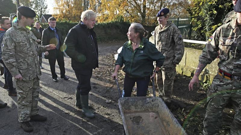 """Prime Minister Boris Johnson """"perfectly understands"""" residents' anger following recent floods"""