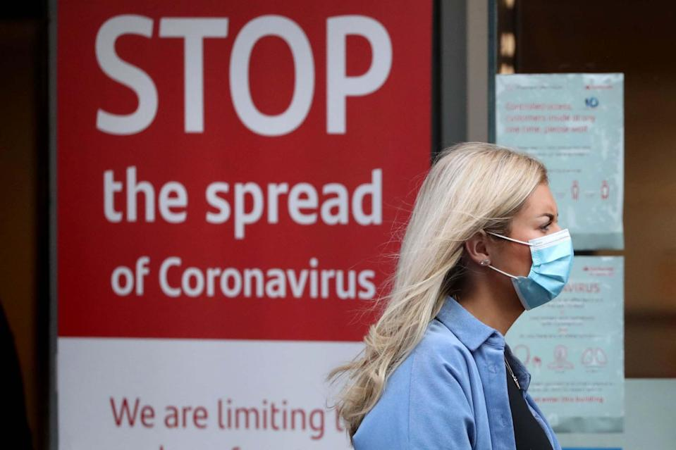 The report warned that nearly 100,000 people a day were being infected with coronavirus: PA