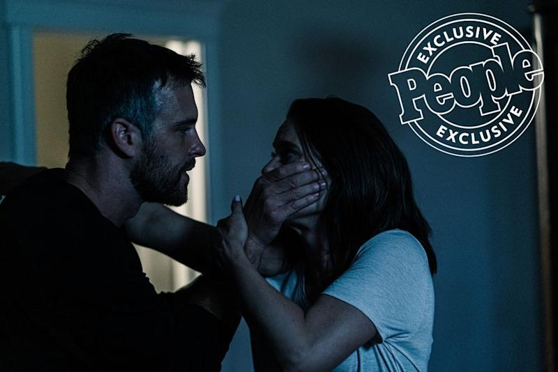 Sean Kleier and Ashley Williams in Chris Watts: Confessions of a Killer   A&E Networks