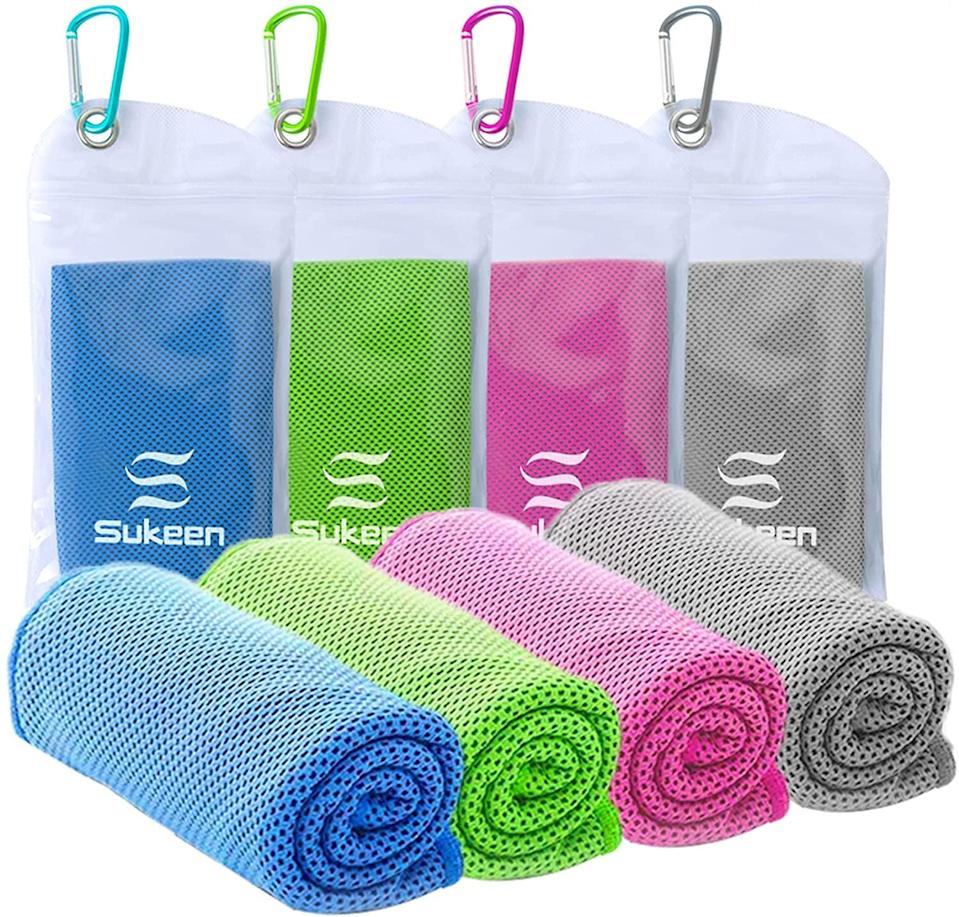 <p>You don't need to understand how <span>Cooling Towels</span> ($20 for four) work to appreciate how ingenious they are. Just soak one in water, give it a good wring and a shake, and place it around your neck for an instant cooling effect.</p>