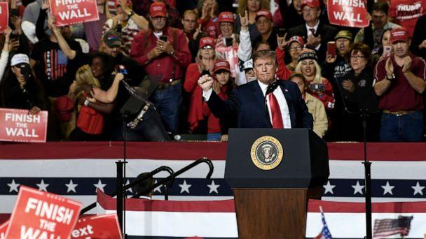 PHOTO: President Donald Trump speaks during a rally in El Paso, Texas, Feb. 11, 2019. (Susan Walsh/AP, FILE)