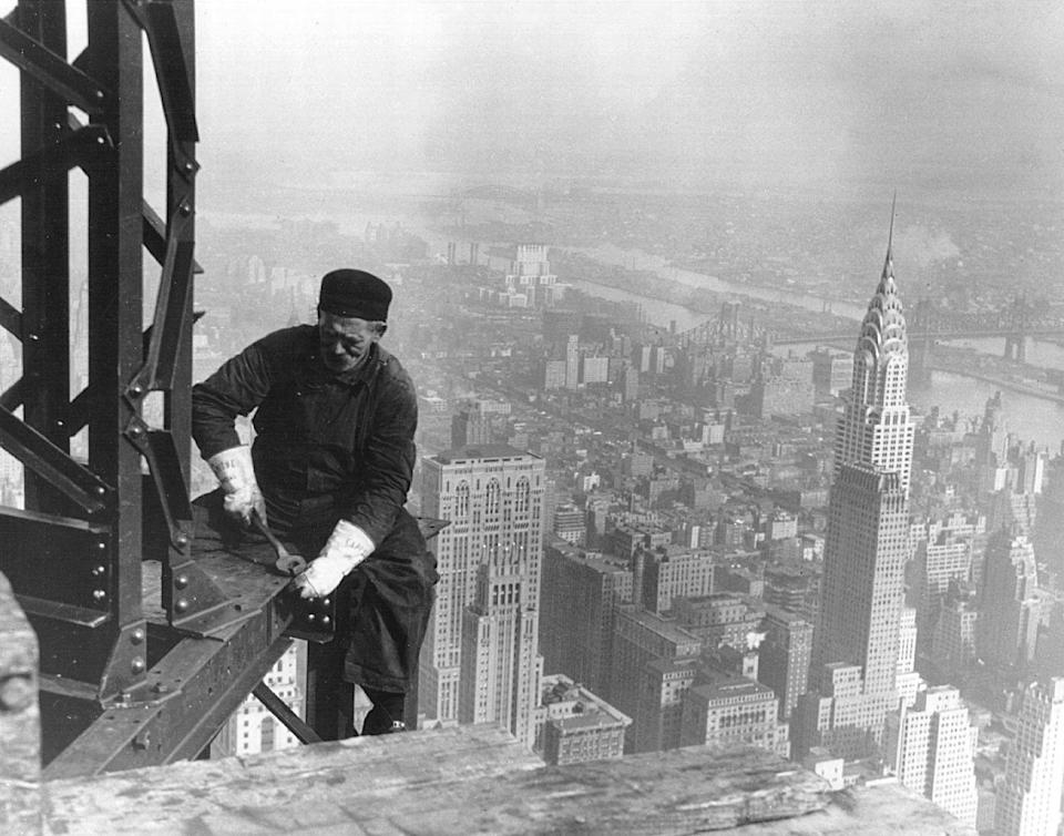 """<p>With apologies to the 1930s-opened Chrysler Building, the <a href=""""https://science.howstuffworks.com/engineering/structural/empire-state-building.htm"""" rel=""""nofollow noopener"""" target=""""_blank"""" data-ylk=""""slk:Empire State Building"""" class=""""link rapid-noclick-resp"""">Empire State Building</a> in Manhattan stands alone as one of the most influential skyscrapers in world history. Opened in 1931 at 102 stories tall and 1,250 feet tall—passing the Chrysler Building's 1,046 feet—and standing as the world's tallest for over 40 years, the Empire State Building uses a steel frame clad in <a href=""""https://www.esbnyc.com/sites/default/files/esb_fact_sheet_4_9_14_4.pdf"""" rel=""""nofollow noopener"""" target=""""_blank"""" data-ylk=""""slk:200,000 cubic feet of Indiana limestone and granite"""" class=""""link rapid-noclick-resp"""">200,000 cubic feet of Indiana limestone and granite</a> to create a structure that proved iconic both for engineers and New York residents.</p>"""