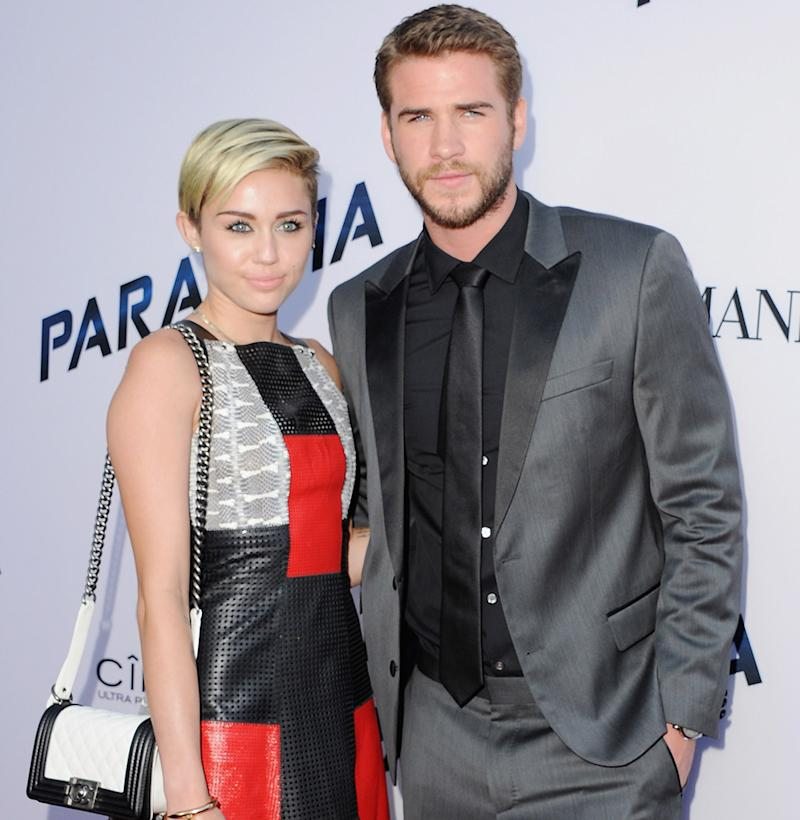 Miley Cyrus and Liam Hemsworth.