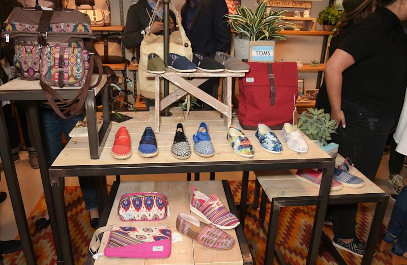 At the launch of TOMS London Community Outpost, their first UK Flagship store off Carnaby Street in London, England.