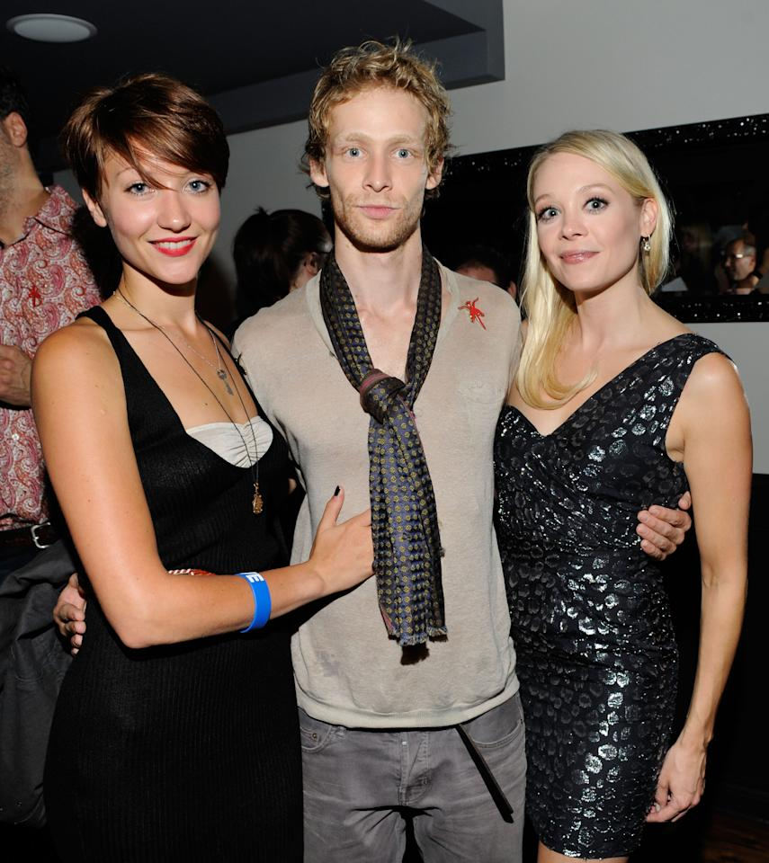 """TORONTO, ON - SEPTEMBER 14:  Actors Gretchen Lodge, Johnny Lewis and Alexandra Holden attend """"Lovely Molly"""" Pre-Screening Cocktail Reception at TIFF Bell Lightbox on September 14, 2011 in Toronto, Canada.  (Photo by Clinton Gilders/Getty Images)"""