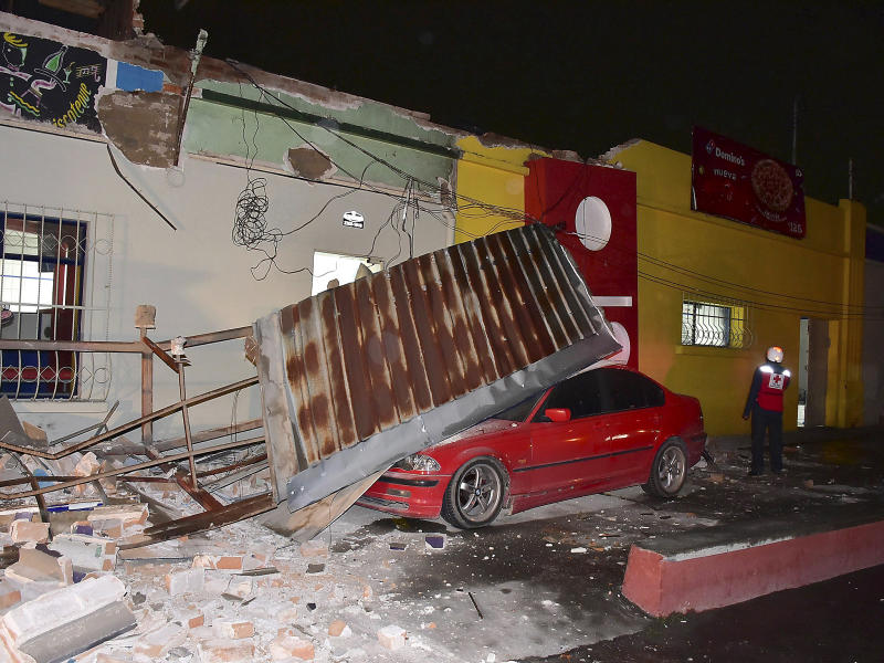 The earthquake caused damage in the Guatemalan village of Quetzaltenango: EPA