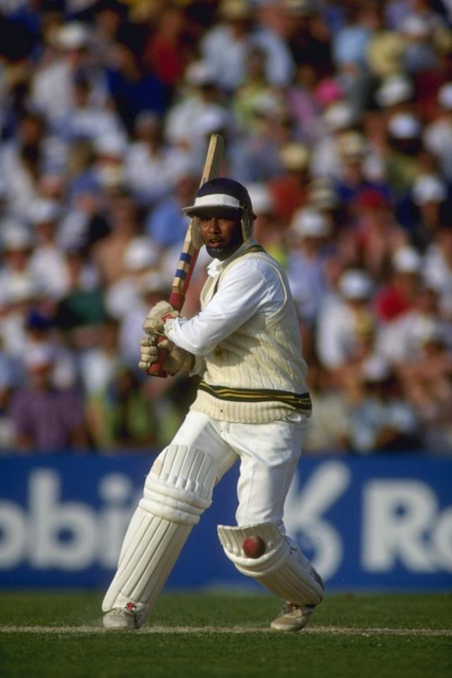 22 May 1992:  Asif Mujtaba of Pakistan in action against England in the 2nd one day International at the Oval.