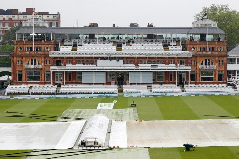 Rain stops play - The covers remain on the pitch and square as bad weather delays the start of the third day's action in the first Test between England and New Zealand at Lord's on Friday