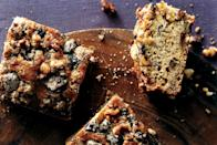 """Prefer a more dessert-like version? Then try this chocolate chip banana bread. It's an easy recipe that chocolate enthusiasts will find hard to resist. <a href=""""https://www.epicurious.com/recipes/food/views/banana-chocolate-walnut-cake-241517?mbid=synd_yahoo_rss"""" rel=""""nofollow noopener"""" target=""""_blank"""" data-ylk=""""slk:See recipe."""" class=""""link rapid-noclick-resp"""">See recipe.</a>"""