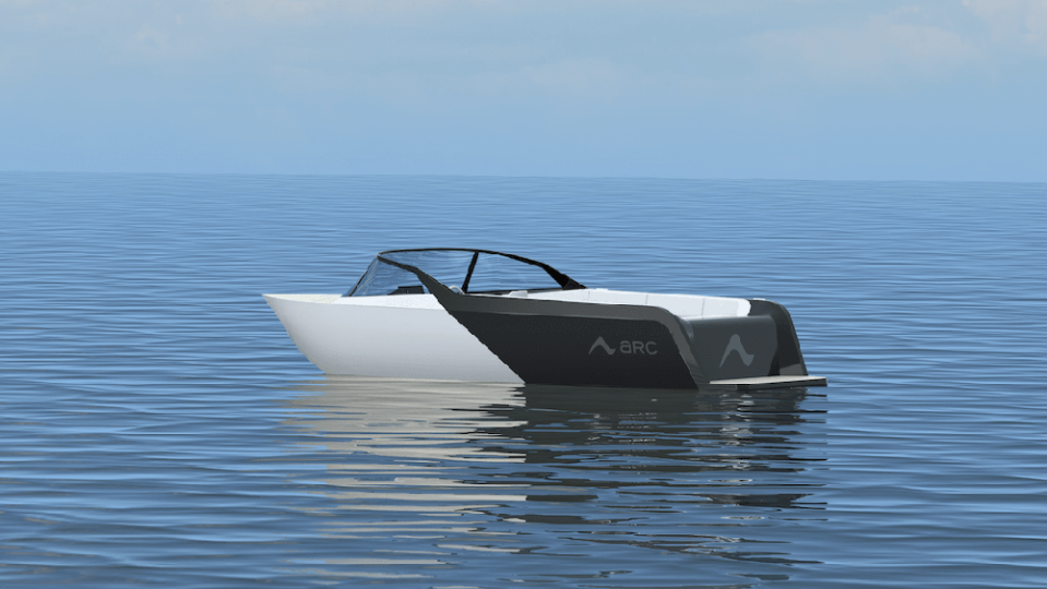 Arc's new hull design will help the electric speedboat ride through the waves.  - Credit: Arc Boats