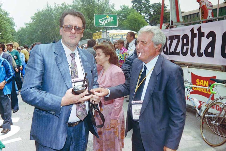 Torriani in Milan at the 1990 Giro