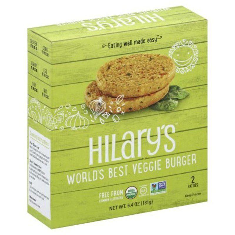 "<p><strong>Hilary's</strong></p><p>instacart.com</p><p><strong>$3.49</strong></p><p><a href=""https://go.redirectingat.com?id=74968X1596630&url=https%3A%2F%2Fwww.instacart.com%2Fproducts%2F25968-hilarys-veggie-burger-6-4-oz&sref=https%3A%2F%2Fwww.goodhousekeeping.com%2Ffood-products%2Fg35886676%2Fbest-vegan-food-products%2F"" rel=""nofollow noopener"" target=""_blank"" data-ylk=""slk:Shop Now"" class=""link rapid-noclick-resp"">Shop Now</a></p><p>Plant-based foodies will love this USDA organic veggie burger that's also Certified Gluten-Free and Non-GMO Project Verified. <strong>Made from real ingredients like whole grain millet, leafy greens and sweet potato, this pick is also free from the top 12 common food allergens. </strong>Their <a href=""https://www.amazon.com/Hilarys-Organic-Veggie-Sausage-Frozen/dp/B076GN51XM?tag=syn-yahoo-20&ascsubtag=%5Bartid%7C10055.g.35886676%5Bsrc%7Cyahoo-us"" rel=""nofollow noopener"" target=""_blank"" data-ylk=""slk:organic spicy veggie meatless breakfast sausage"" class=""link rapid-noclick-resp"">organic spicy veggie meatless breakfast sausage</a> also boasts a stellar ingredients list, but we prefer the flavor on the veggie burger line.</p>"