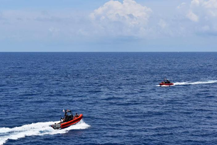 IMAGE: Coast Guard cutter Resolute rescues eight people south of Key West (U.S. Coast Guard District 7)